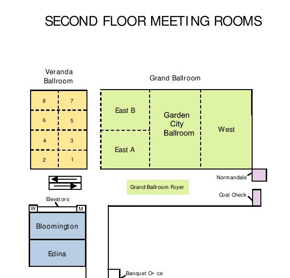 Doubletree Hilton 2nd floor map